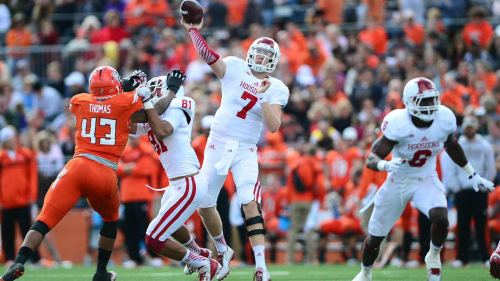 Nate Sudfeld was one of the few bright spots for the Hoosiers in a 45-42 loss at Bowling Green Image Source: Scout.com