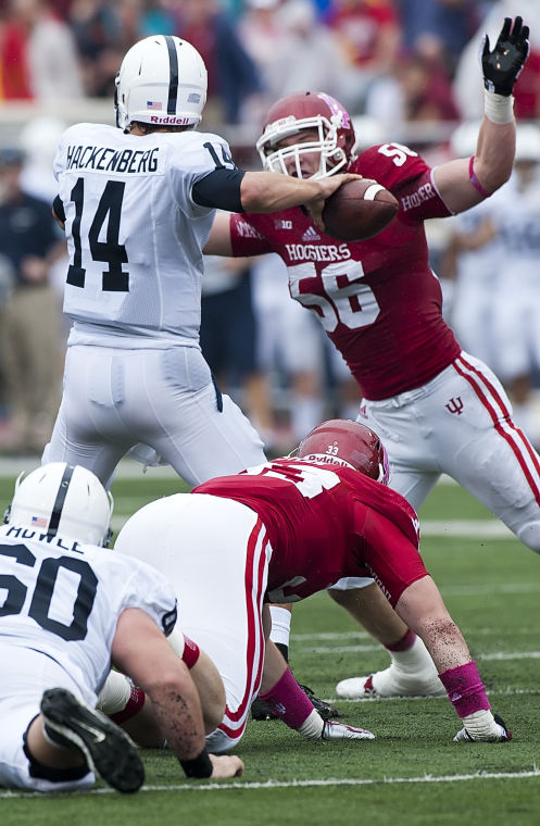 Nick Mangieri (56) had a break out game from the bandit position in week 3. Indiana needs that production against Missouri