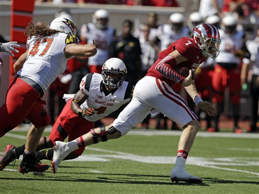 Nate Sudfeld and the Hoosier offense could not find footing in the 37-15 loss to Maryland Saturday.