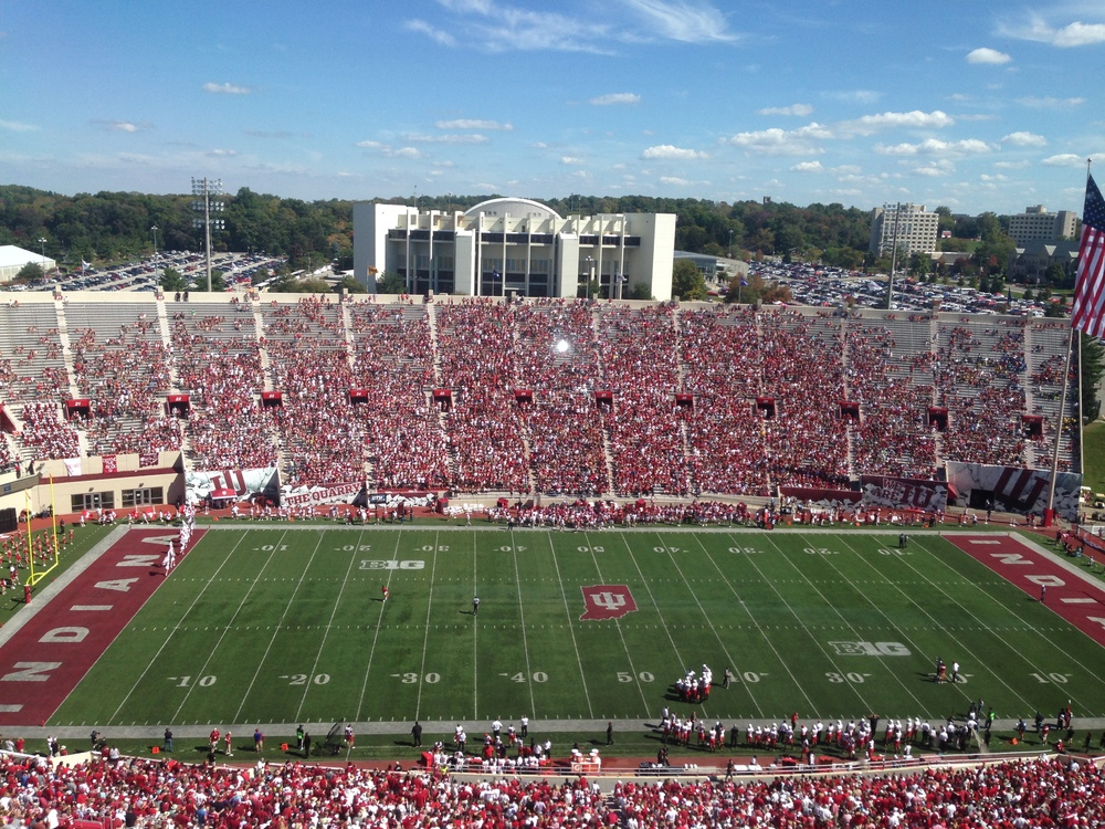 Memorial Stadium at the time of kickoff between Indiana and Maryland on Saturday