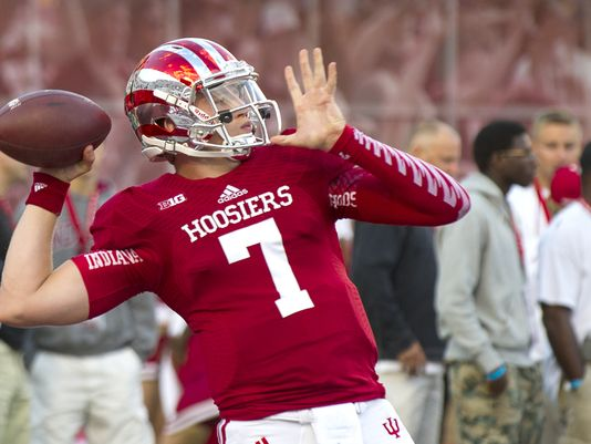 Nate Sudfeld must be a leader on the field and fire up his team for Saturday Image Source: IndyStar.com