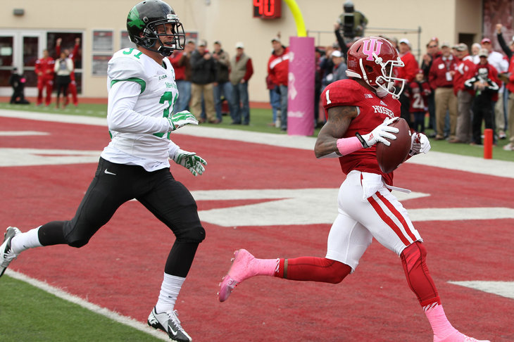 Shane Wynn found the end zone for the first time in 2014 in the 49-24 win over North Texas.
