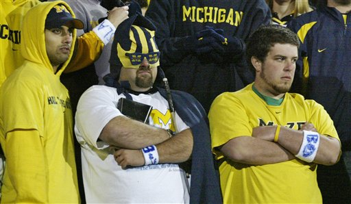 Will Michigan fans turn at the first sign of trouble on Saturday?  Image Source: Bloguin