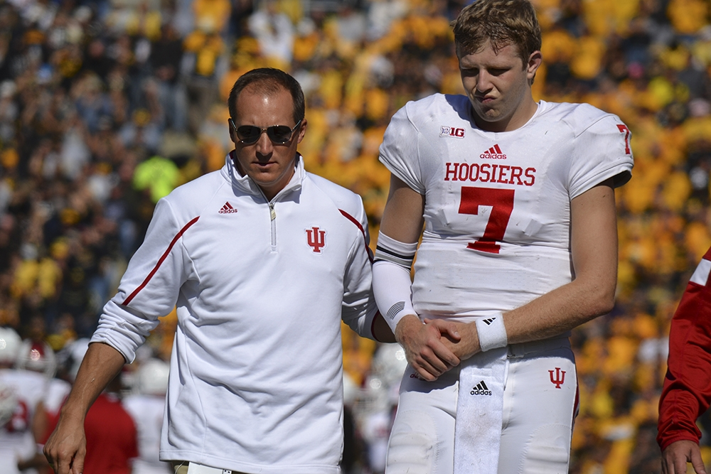 The Hoosiers' Season was derailed in mid-October when Nate Sudfeld was lost to injury