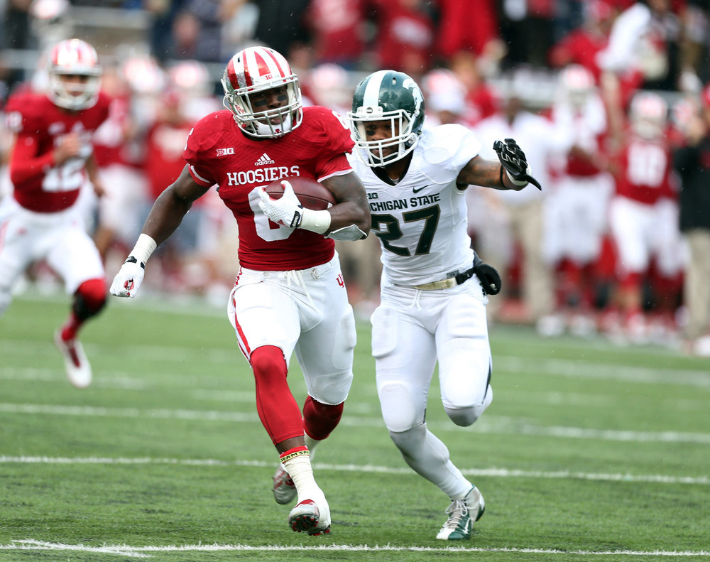 Indiana running back Tevin Coleman will forego his senior year and enter the NFL Draft in the spring. Image Source: Chicago Tribune