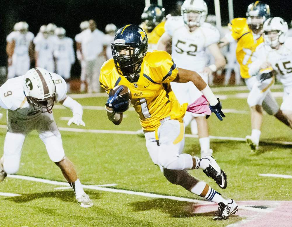 Maryland's Bullis Running Back Devonte Williams is in Bloomington this weekend for an official visit with the Hoosiers. The versatile playmaker is currently committed to Marshall.Tom Fedor/The Gazette