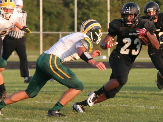 Kiante Enis'3,189 rushingyards this past season isfourth best all-time in Indiana. The versatile athlete is one of the Hoosiers Class of 2016 instate targets. - Photo: Lloyd Mullins/for the Richmond Palladium-Item