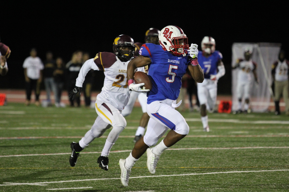 Tino Ellis reported on Wednesday via his twitter account that he had received an offer from the Hoosiers.  (Photo Credit - insidedemathafootball.com)