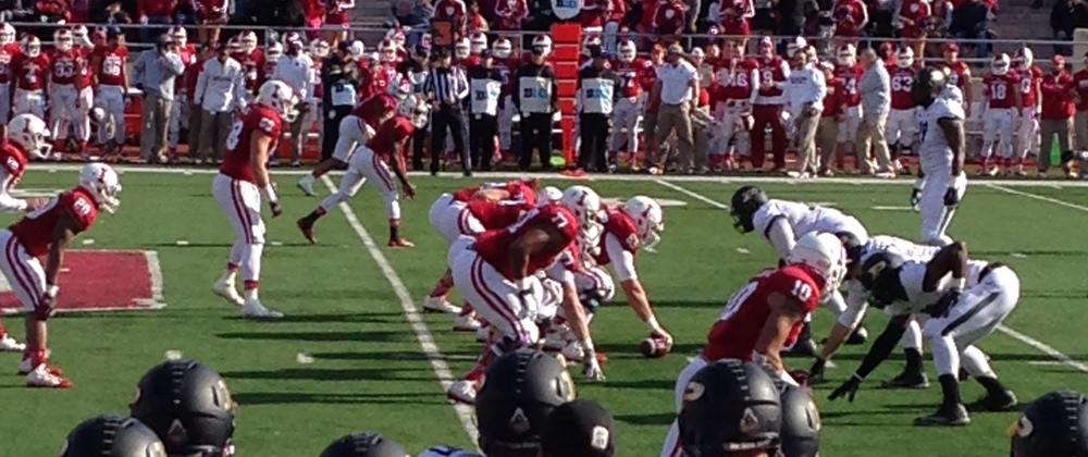 Despite the loss of a couple of key contributors, the offensive line should once again be an area of strength for the Hoosiers offense in 2015. Photo Credit - Nick Holmes
