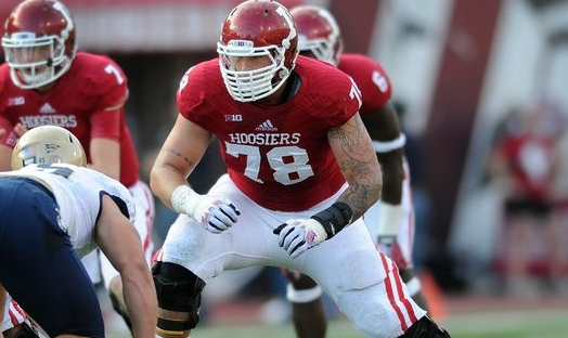 Jason Spriggs has been protecting Indiana quarterbacks' blindside for the last three season, don't look for that to change in 2015 as he looks like a sure-fire NFL prospect. Photo Credit - Indystar.com