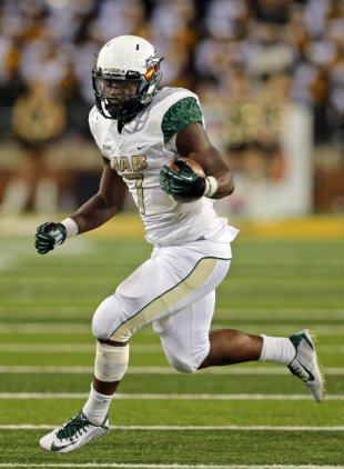 Jordan Howard ran for over 1,500 yards as a sophomore at UAB in 2014.  Image: Yahoo! Sports