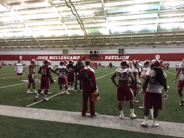 The Hoosiers welcomed seven prospects to practice over the weekend Image: Sammy Jacobs, HoosierHuddle.com
