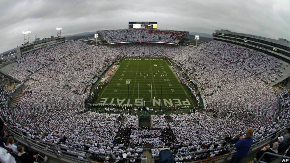 Indiana travels to Beaver Stadium on October 10th. Kickoff is 12pm EST  Image: Associated Press