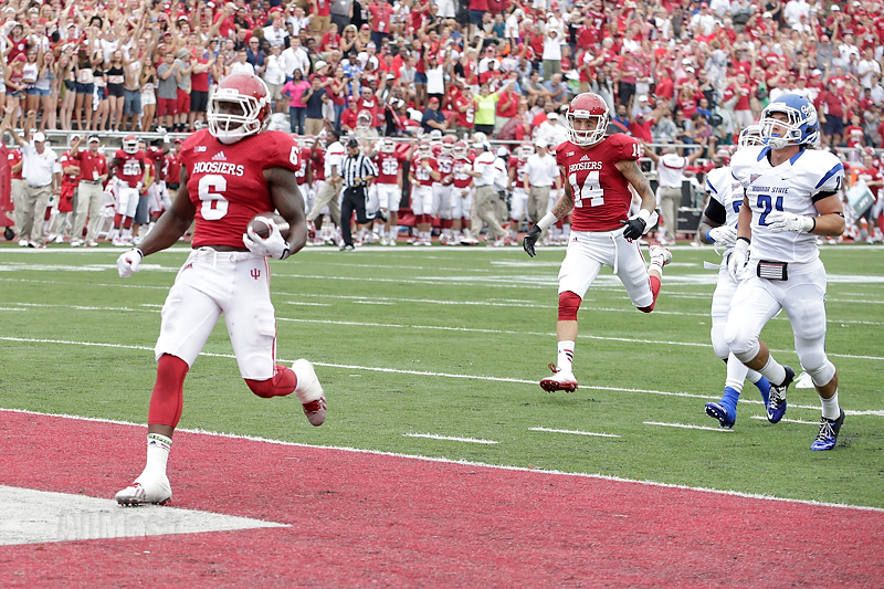 Tevin Coleman and the Hoosiers ran all over Indiana State to open up the 2014 season.  Image: AJMast.com