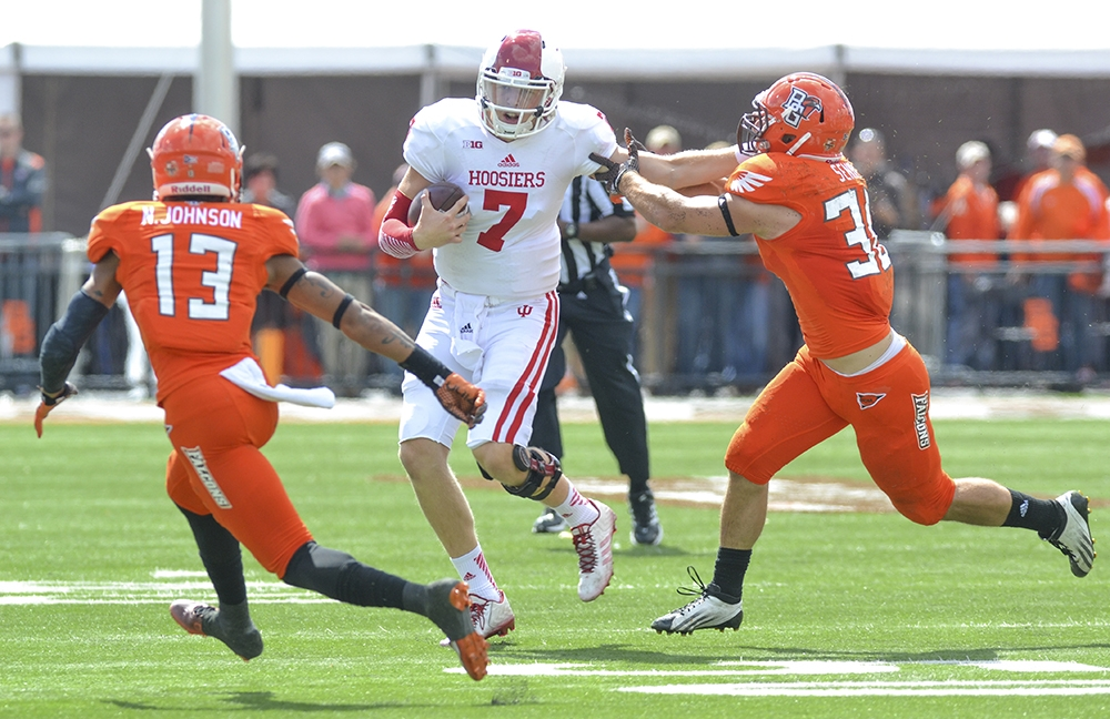 Nate Sudfeld and the Hoosiers just couldn't put together a complete game in an upset loss at Bowling Green  Image: IDSNews.com