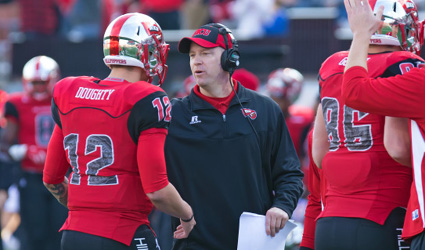 WKU Head Coach Jeff Brohm will bring his explosive offense to Bloomington in week three of the 2015 season. PHoto Credit - WKUAthletics