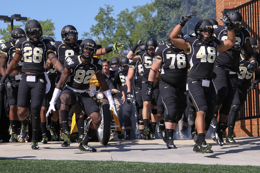 Wake Forest will be ready to charge against the Hoosiers when IU visits Winston-Salem in the final week of September.  Image: Oldblackandgold.com