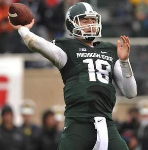 Connor Cook has never lost to IU. Image: DetroitNews.com