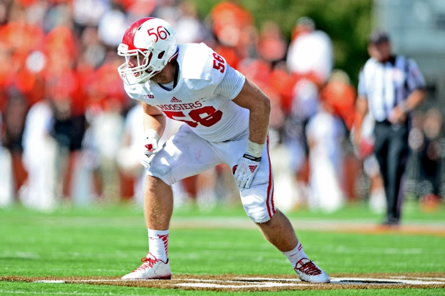Defensive End Nick Mangieri is last season's heartbreaking loss against Bowling Green. The play of the Illinois native will be critical if the Hoosiers defensive is to take some steps forward this fall. Photo Credit - Andrew Weber - USA TODAY