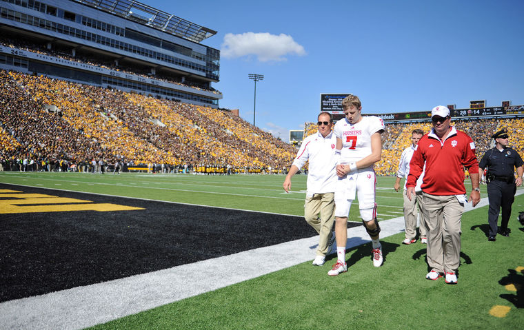 Indiana's bowl hopes and 2014 season were dashed in Iowa City on a sunny October afternoon. Image: Heraldtimes.com