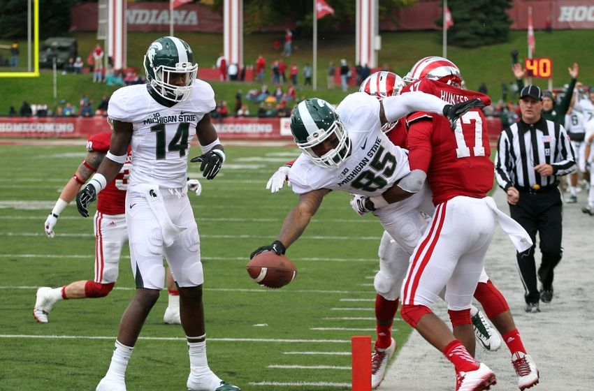 The Hoosiers took a brief lead in the Spittoon Game but could not match MSU's firepower.  Image: Fansided.com