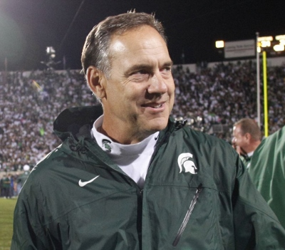 Spartans' Coach Mark Dantonio has his eyes set on another Big Ten Championship and an opportunity to take part in this year's college football playoff.