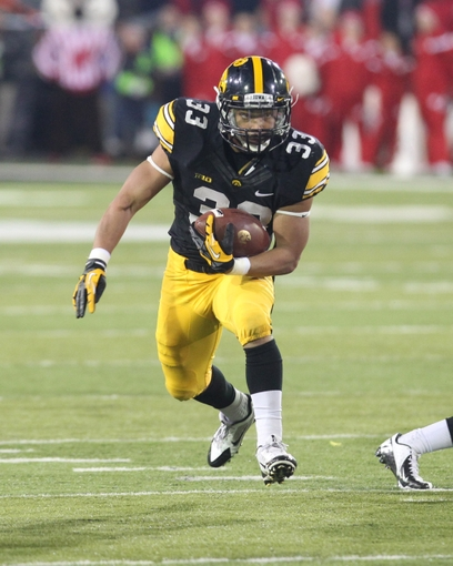 If senior running back Jordan Canzeri can stay healthy, he will likely carry quite the load for the Hawkeyes this fall. Photo Credit - Reese Strickland-USA TODAY Sports