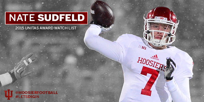 Indiana quarterback Nate Sudfeld has been on people's radars all offseaon.                            Image: IUHoosiers.com