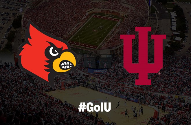 Indiana and Louisville will renew their rivalry on both the hardwood and gridiron.  Image: IUHoosiers.com