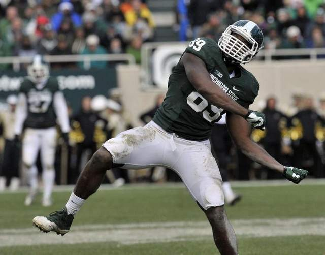 Shalique Calhoun will lead one of the best defensive lines in the Big Ten in 2015.