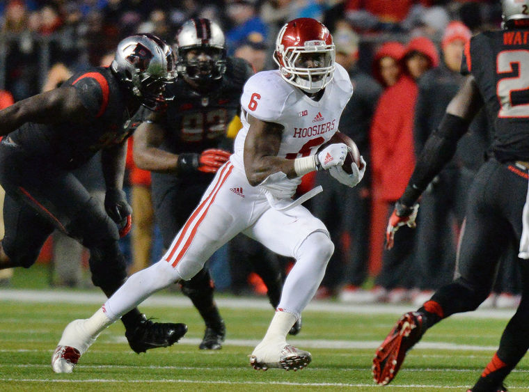 Tevin Coleman had his largest yardage output of his career vs. Rutgers in 2014  Image: HeraldTimesOnline