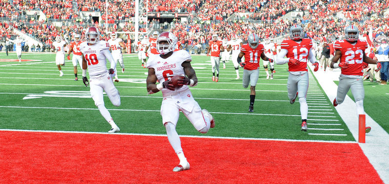 Tevin Coleman had another monster day, but it wasn't enough for the Hoosiers in Columbus. Image: HeraldTimesOnline