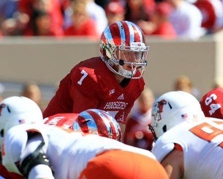 Nate Sudfeld will be under center for the first time in a game since mid-October 2014. Image: IndyStar.com