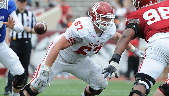 Redshirt junior Dan Feeney is one of the many talented athletes the hoosiers coaching staff will employ along the offensive line this fall, arguably the best group ever to don the cream and crimson. Image: IUHoosiers.com