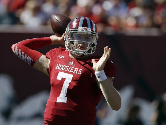 Nate Sudfeld is back and must pass the eye test in week one.  Image: IndyStar.com