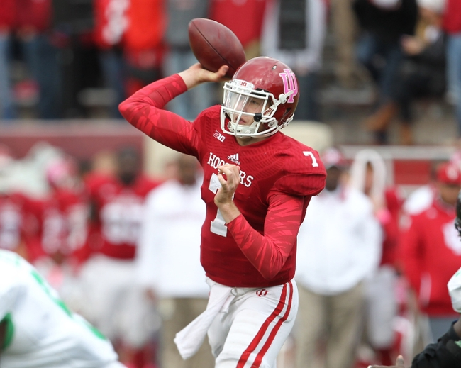 Nate Sudfeld leads the Hoosiers against the Salukis in the opener on Saturday.  Image: USAToday Sports