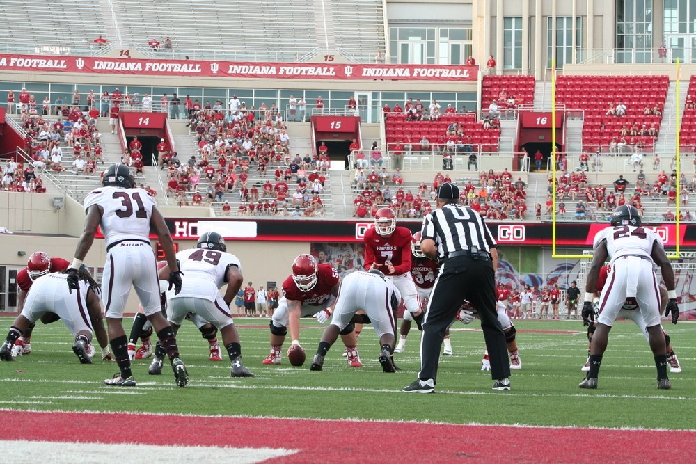 Nate Sudfeld led a trio of playmakers who sparked the IU offense to a 48-47 shootout victory on Saturday.  Image: Cam Koenig HoosierHuddle.com