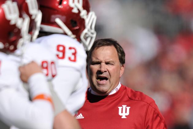 Hoosier head coach Kevin Wilson fired a shot across the bow of his defensive staff after Saturday's ugly performance. Image: BleacherReport