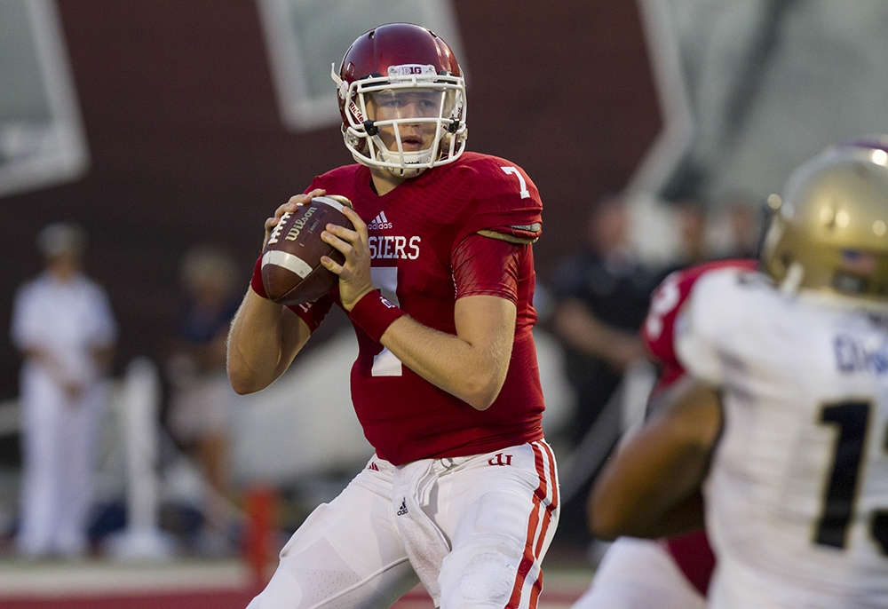 Indiana quarterback Nate Sudfeld has littered both on the field and off the field award lists. Image: IDSNews.com