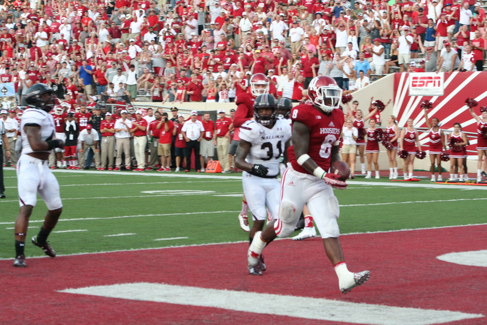 Indiana running back Jordan Howard will have to take some of the pressure off Sudfeld on Saturday.  Image: Cam Koening HoosierHuddle.com