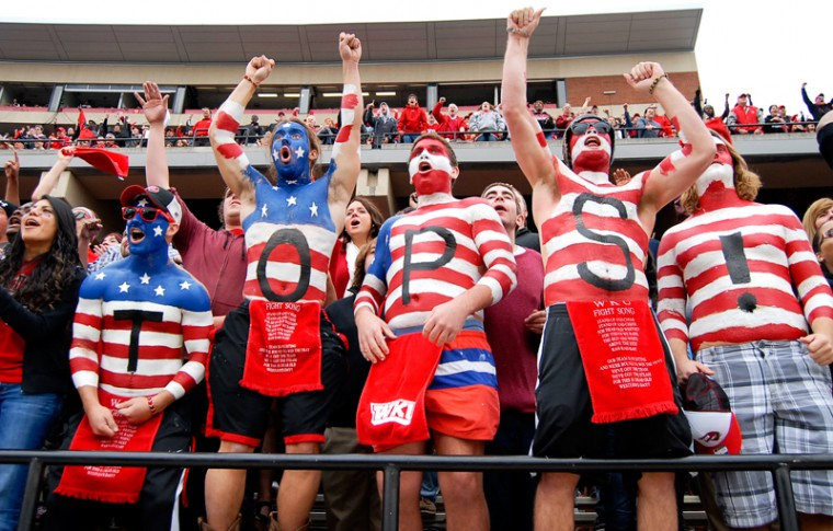 Western Kentucky will bring some rowdy fans with them when they play in Bloomington on Saturday. Image: WKU Herald