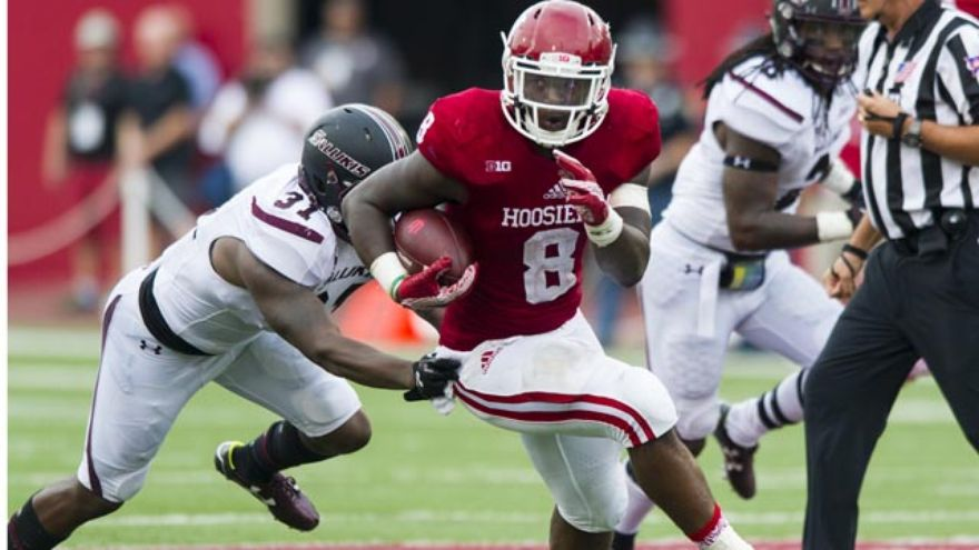 Jordan Howard will be leaned on again to power the Hoosier offense in the rain on Saturday.  Image: IndyStar.com
