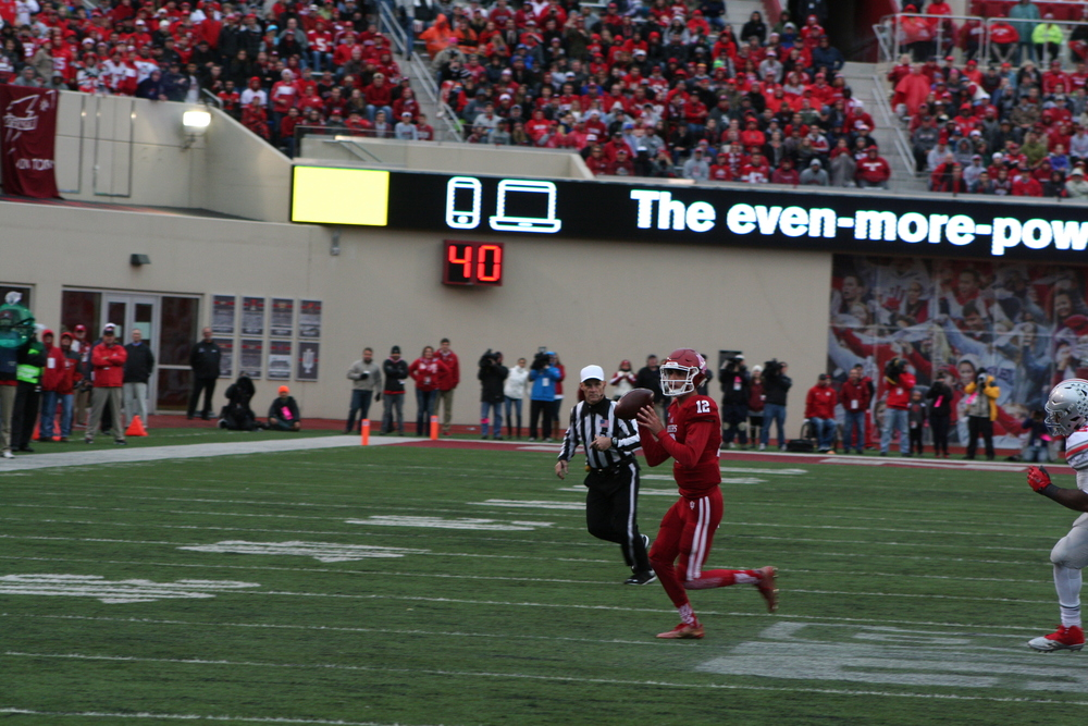 Zander Diamont and the Hoosiers rally fell short in a 34-27 loss to No. 1 Ohio State  Image: Cam Koenig HoosierHuddle.com