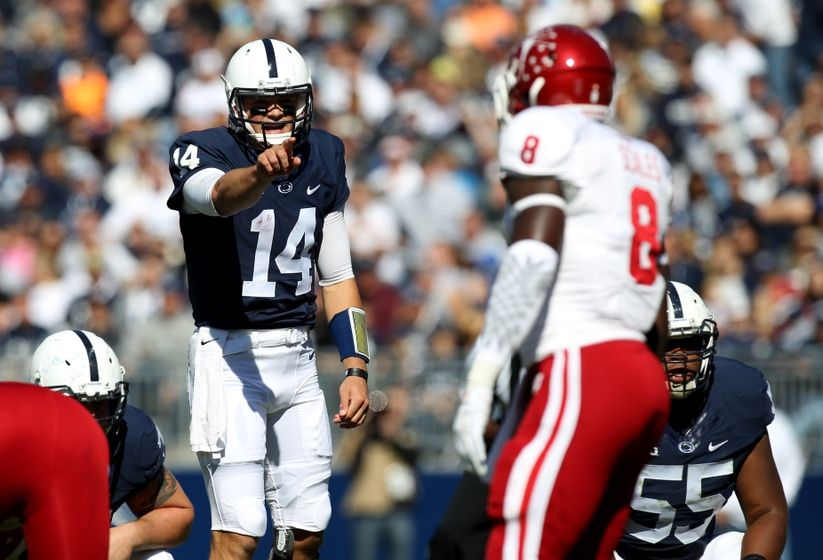 Christian Hackenberg showed why he may be a first round draft pick in Penn State's 29-7 win over Indiana on Saturday  Image: Thevictorybellrings.com