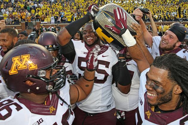Minnesota looks to retain possession of the Little Brown Jug this week