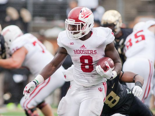 Indiana running back Jordan Howard put some scares into teams in 2015