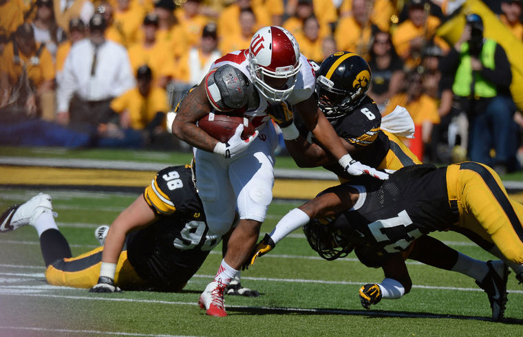 Indiana and Iowa square off on Saturday at 3:30pm in Bloomington. Image: HeraldTimes Online