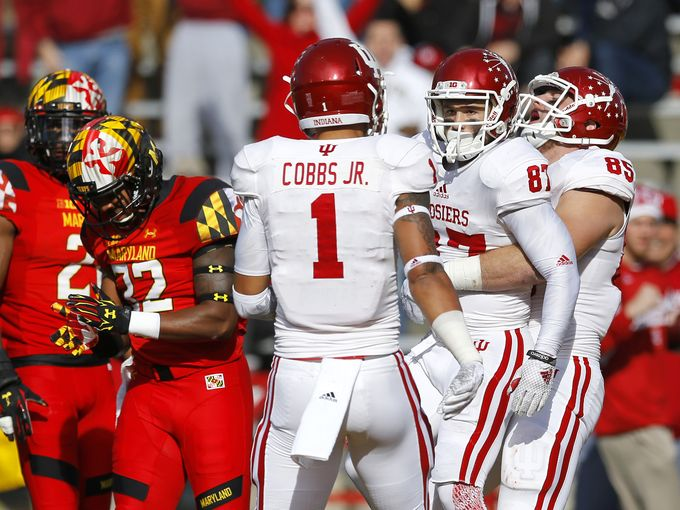 The Hoosiers celebrate their fifth win of the season. Image: Indystar.com