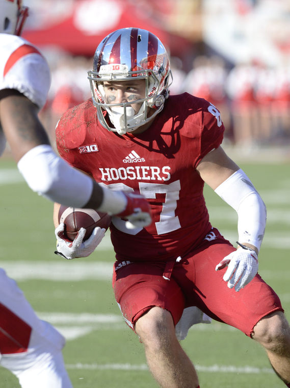 Indiana punt returner Mitchell Paige has returned two punts for touchdowns in 2015.  Image: HeraldTimes Online