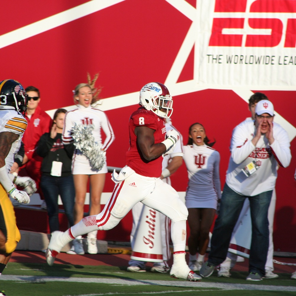 Jordan Howard ran for 1,213 yards last year for the Hoosiers. Image: Cam Koenig HoosierHuddle.com